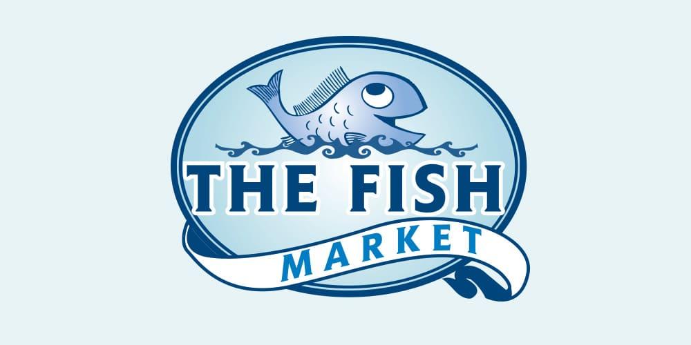 The Fish Market Logo Designed by Mind's I Graphic Design