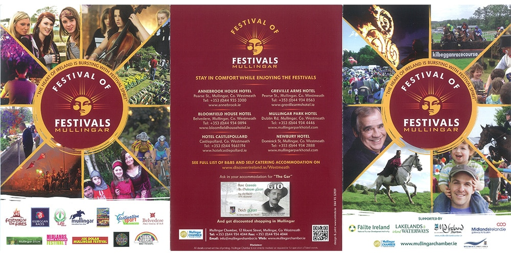 Festival of Festivals Brochure Designed by Mind's I Graphic Design
