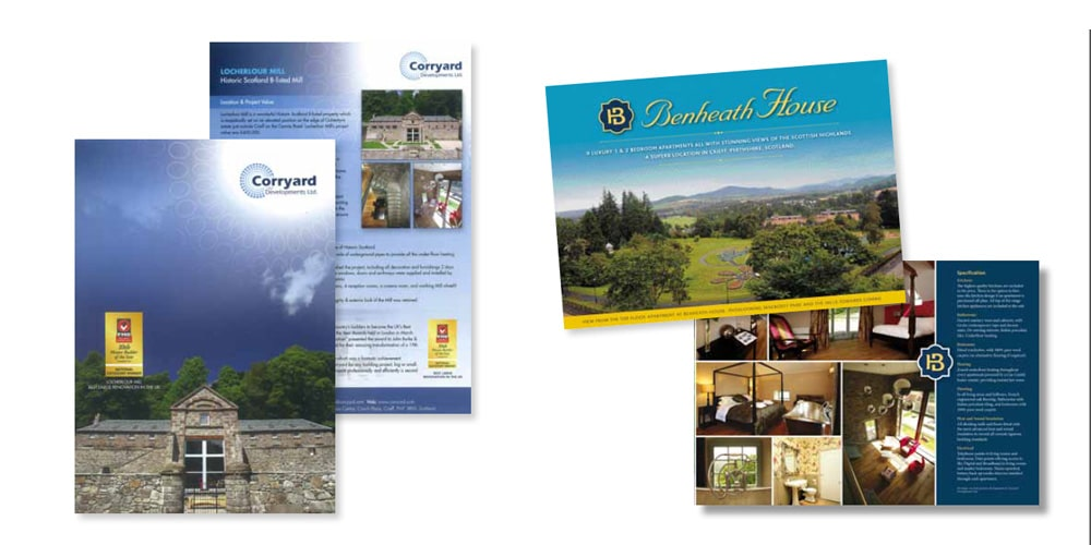 Corryard Inserts and Brochures by Mind's I Graphic Design