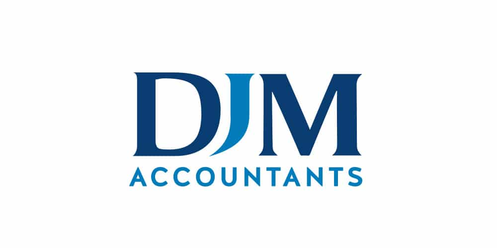DJM Accountants Logo Designed by Mind's I Graphic & Web Design