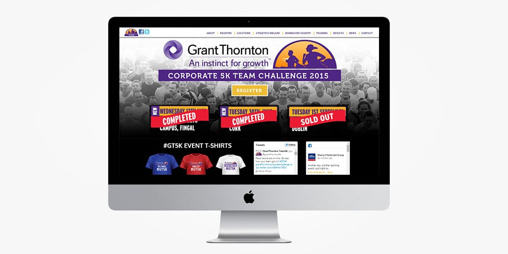 Grant Thornton Corporate Challenge Website Designed by Mind's I Graphic Design
